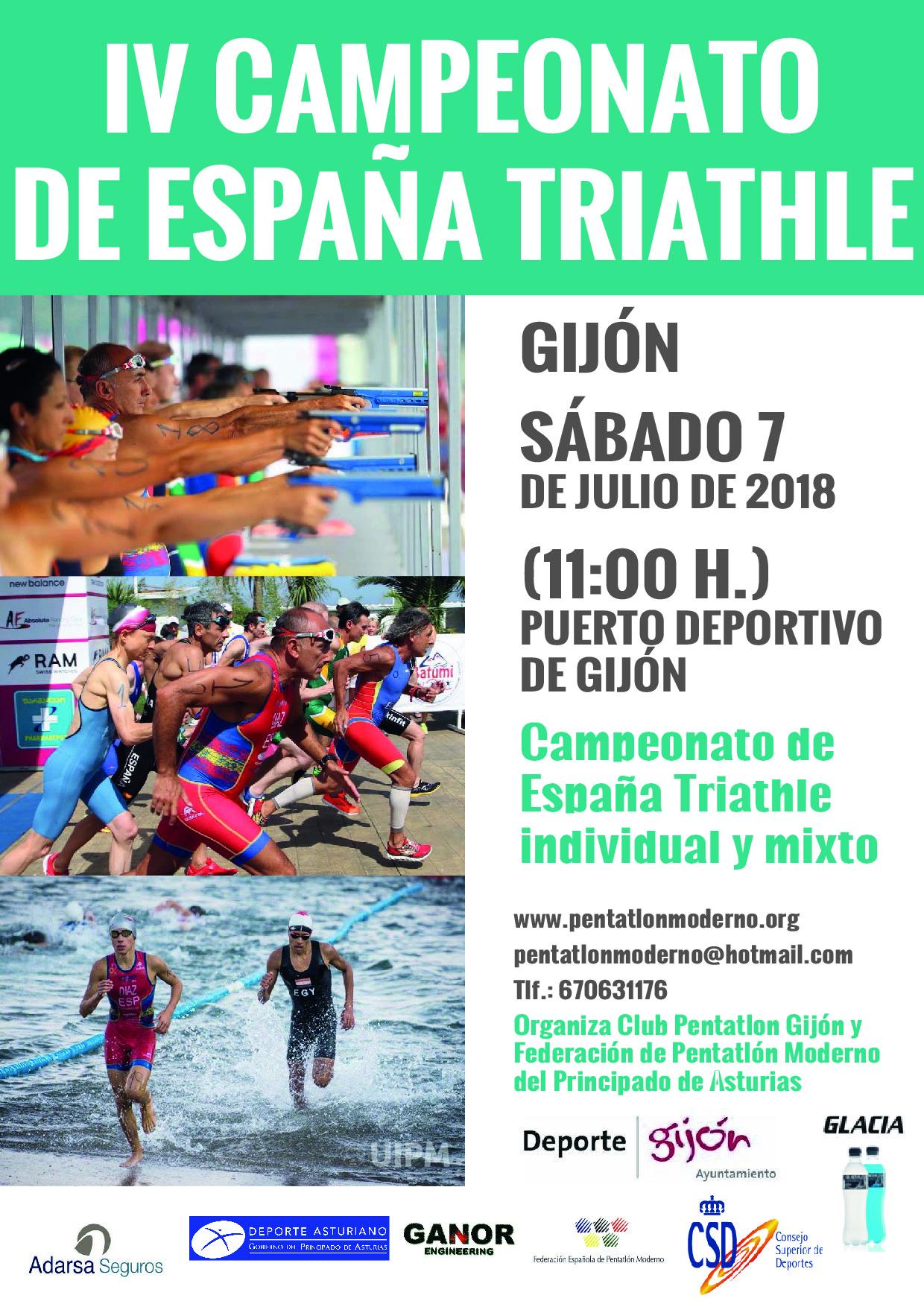 Campeonato España Triatle (Gijon 7/7/18)